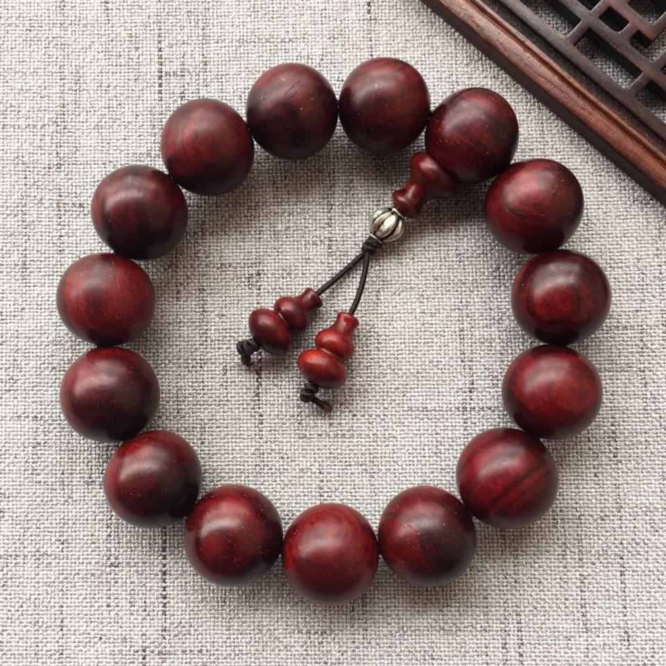 15mm小叶紫檀圆珠手串