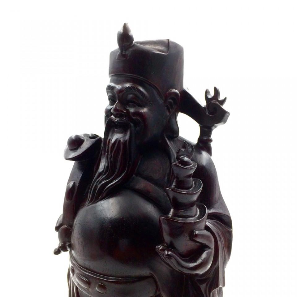 小叶紫檀财神爷摆件