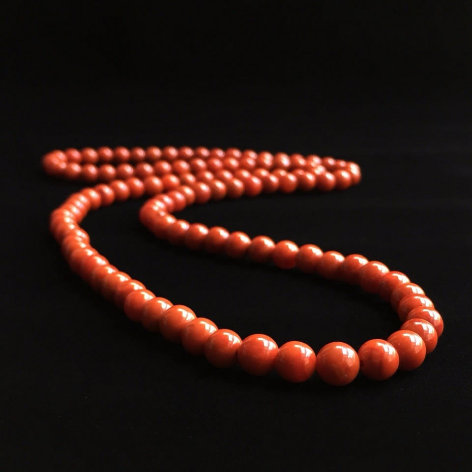 南红柿子红7mm珠串