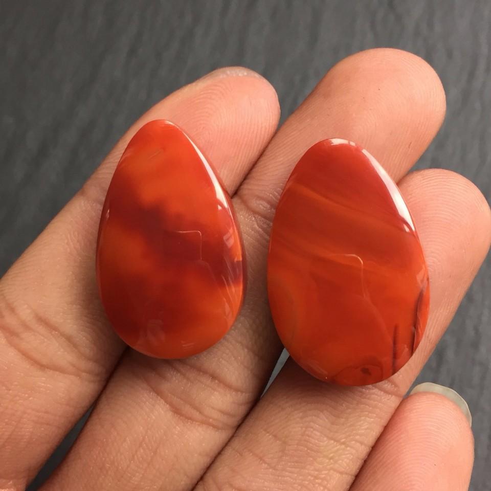 南红柿子红水滴形挂件(单件)