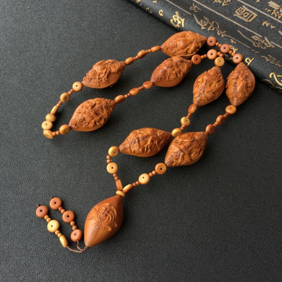 三花大橄榄核八大藏传佛手提珠
